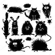 Disegni Schizzi Animali Raccolta Di Divertenti Animali Stilizzati