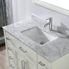 42 Bathroom Vanity 42 Inch Single Sink Bathroom Vanity With Marble Top In White Sale