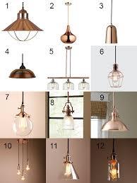 trendy copper light fixtures design