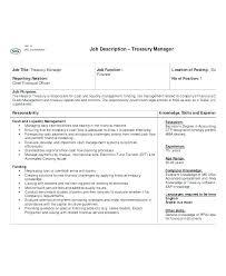 Treasurer Job Description Resume Best of Assistant Treasurer Cover Letter Sample Finance Cover Letter Resume