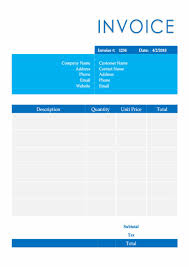 Free Invoice Templates Download In Word Excel Pdf