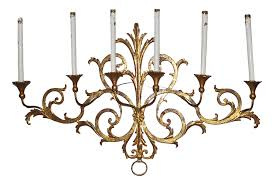 antique gold leaf candle wall sconce omero home white sconces for candles black pendant light large exterior lantern long arm lamp spanish style brass with