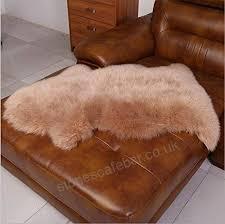 mq soft area rug genuine australian sheepskin rug one pelt ivory natural furlight brown b06wwn9lb