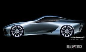 Lexus LF-LC concept sketches by the Calty designers ...