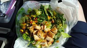 i order it with grilled en without cheese without tortilla chips and ask for the low fat balsamic vinegarette winner