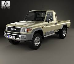 Toyota Land Cruiser Single Cab Pickup VXR 2007 3D model - Hum3D