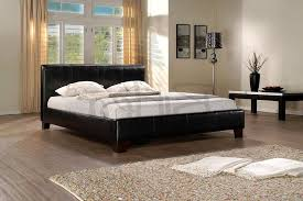 leather double bed frame brooklyn brown
