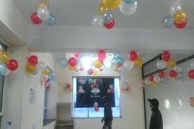 easy balloon decoration for birthday simple ideas at home wall