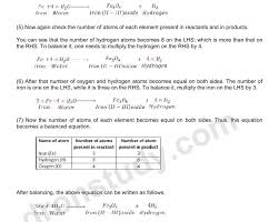 chapter notes chemical reactions and equations class 10 science