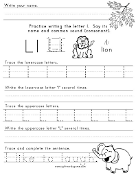 Letter L Worksheets Free Collection Of Preschool Letter L Tracing ...