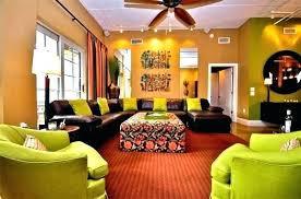 orange and brown living room ideas green burnt dark