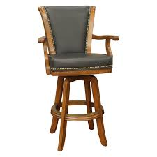 leather bar stools with arms. Contemporary Black Bar Stools With Back Support Modern Powell Furniture 208 915 22 Barrel Leather Arms T