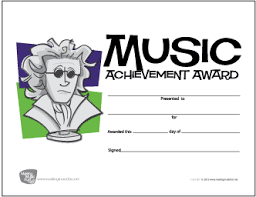 achievement awards for elementary students free music award certificates makingmusicfun net