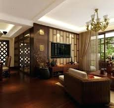 asian themed furniture. Asian Themed Living Room Design Interior Makeover Oriental Furniture Double Nightstands White Sectional Sofa Dark Brown Chinese