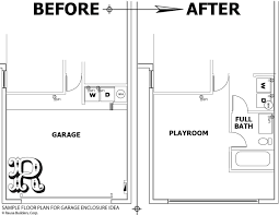 sample floor plan for 2 car garage conversion to 1 bedroom 1 bathroom storage