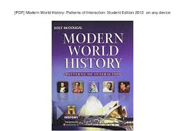 World History Patterns Of Interaction Pdf Inspiration PDF] Modern World History Patterns Of Interaction Student Edition