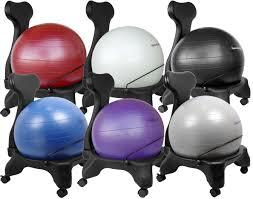 image of yoga ball desk chair size