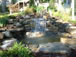 Backyard Pond And Waterfall Designs Home Design Architecture Backyard Waterfalls
