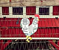 Upcycled Wall Art Upcycled Colorado License Plate Chicken Rooster Wall Art Coop Decor