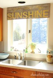 Valance For Kitchen Windows Not Your Usual Kitchen Window Treatment