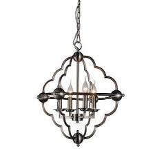 toni 4 light satin nickel chandelier