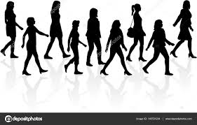 Crowd Of People Walking Stock Vector Pablonis 140721234
