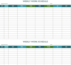 Weekly Staff Schedule Template Free Work Excel Bi Employee