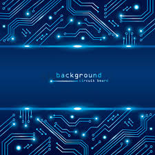 Technical Circuit Board Background Vector Image 1789155