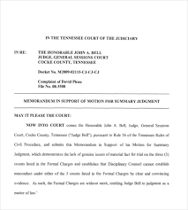 free memorandum template motion for summary judgment template 13 legal memo templates free