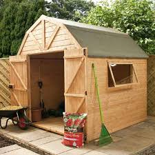 this 3 x 5 wooden garden shed is affordable and a great choice for small backyards allotments and gardens the shed can be placed alongside a