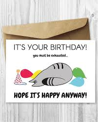 Funny Birthday Card Printables Introvert Birthday Cards Printable Funny Cat Cards Printable Etsy