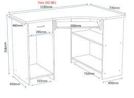 office desk size. Felix Home Office Wooden Corner Computer Desk In Plumtree Size
