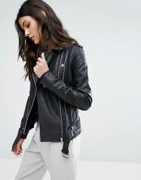 y a s gwen leather jacket from asos