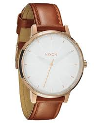 nixon kensington leather watch rose gold white surfstitch rose gold white mens accessories nixon watches a1081045rgw