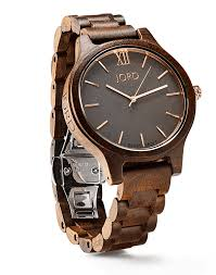 mens wooden watches by jord dark sandalwood smoke