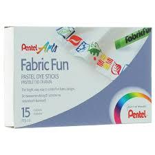 "<b>Пастель для ткани</b> Pentel ""Fabric Fun"", 15 цветов"