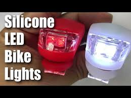 Front and Rear, Red and White <b>Silicone LED Bike</b> Lights Review ...