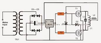 simple induction heater circuit hot plate cooker circuit now comes l1 which is the most crucial element of the whole circuit it must be built using extremely thick copper wires so that it sustains the high
