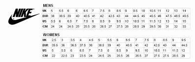 1 Nike Roshe Shoe Size Chart Nike Chart Size Shoe Www