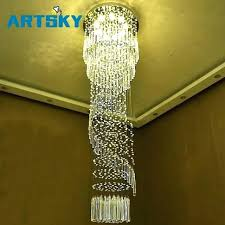 hallway ceiling lights large crystal chandelier modern lighting for hotel stairwell long stair light led hanging ceili