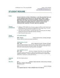 Resume Templates College Student Twnctry