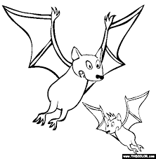 Small Picture Bats Coloring Page Halloween Bat Online Coloring