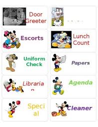 Mickey Mouse Job Chart Job Chart Labels Mickey Mouse