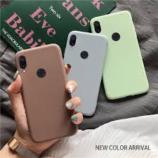 solid <b>candy color silicone</b> case on for xiaomi redmi note 7 note7 pro ...