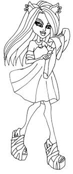 Small Picture Clawdeen Wolf Monster High Coloring Page Coloring Pages of