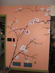 Mural Painting Cherry Tree for Girl's Day