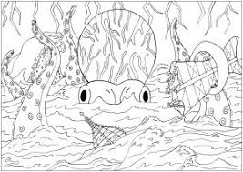 Water Worlds Coloring Pages For Adults