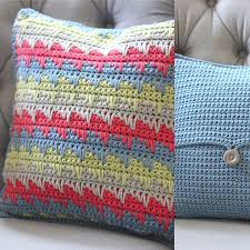 reversible spike stitch pillow this easy crochet pattern makes