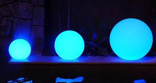 led light sphere night ball moonlight