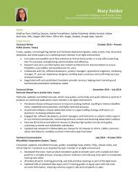 Resume Mary Snider